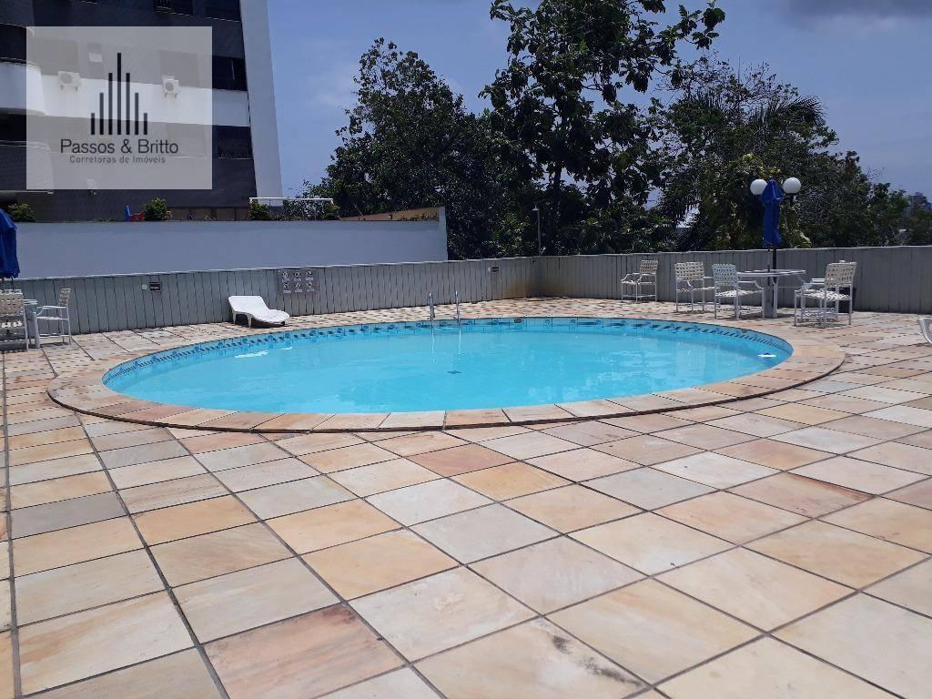 Flat mobiliado com 1 dormitório à venda, 60 m² por R$ 210.000 - Caminho das Árvores - Salvador/BA