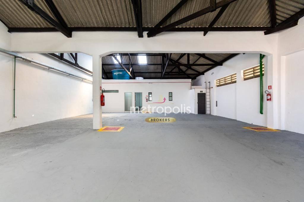 Galpão 320 m² para alugar por R$ 5.800/mês - Fundação - São Caetano do Sul/SP
