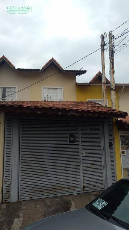 Sobrado residencial para locação, Jardim Pinhal, Guarulhos.