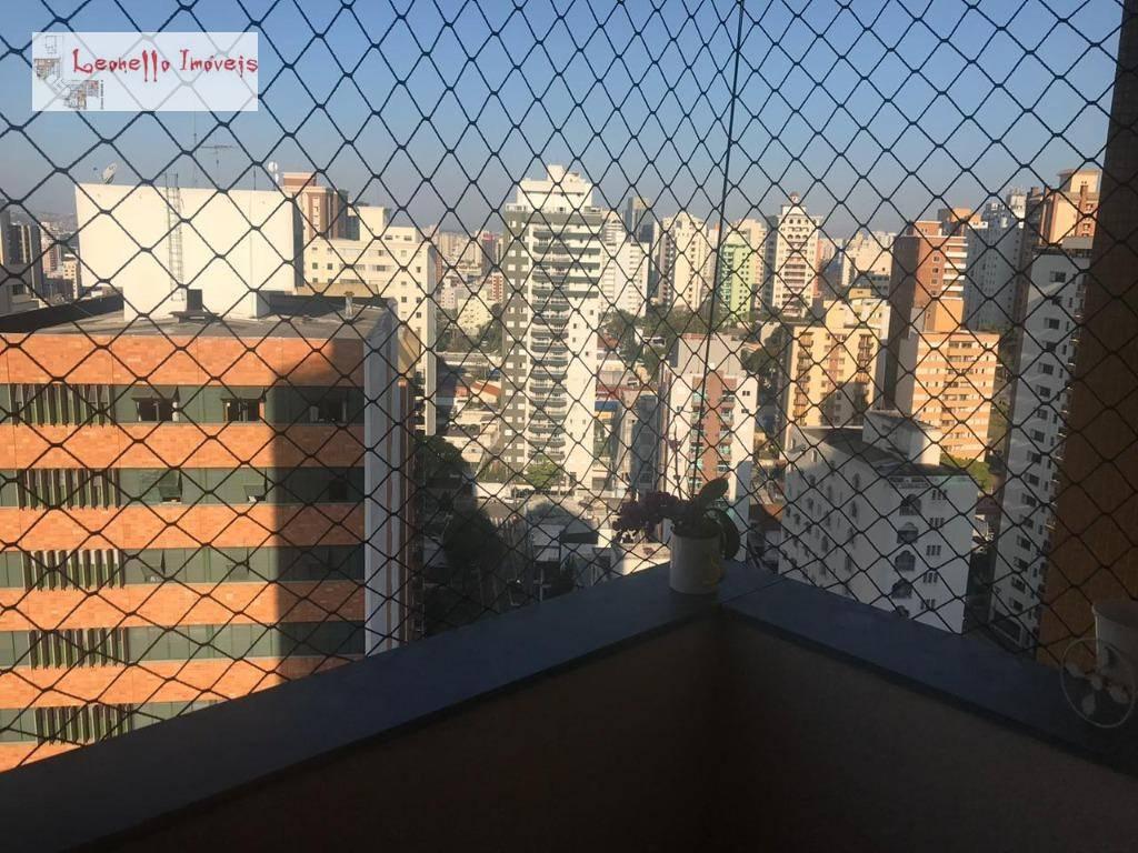 Apartamento com 3 dormitórios à venda, 105 m² - Vila Bastos - Santo André/SP