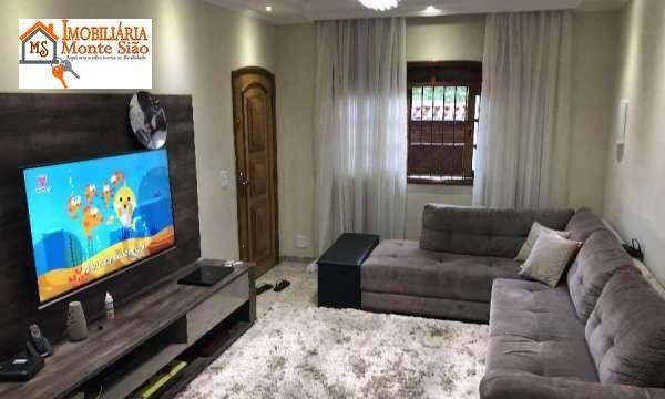 Linda Sobrado com 3 dormitórios à venda, 170 m²  - Jardim Santa Clara - Guarulhos/SP