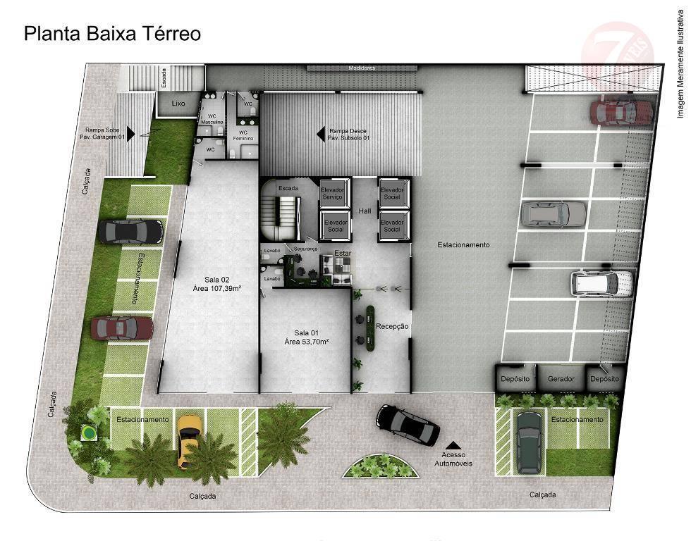 Sala comercial à venda, Jardim Luna, João Pessoa - SA0021.