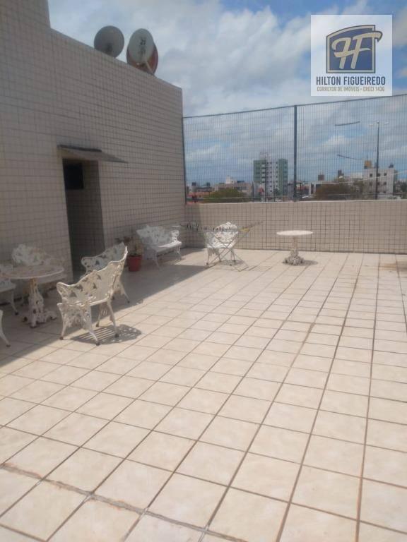 Apartamento com 2 dormitórios para alugar por R$ 860/mês - Bessa - João Pessoa/PB