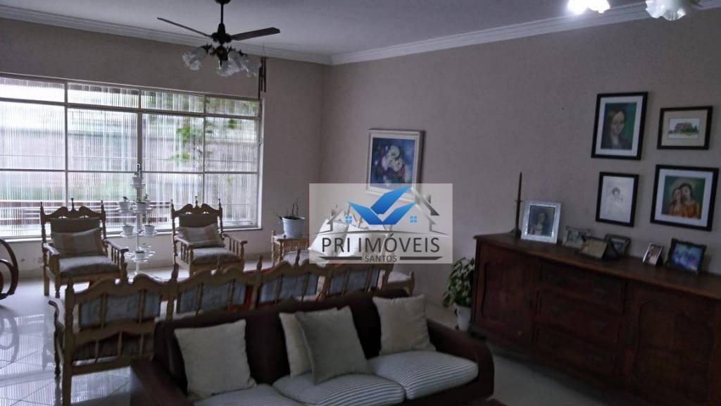 Sobrado, 293 m² - venda por R$ 2.000.000,00 ou aluguel por R$ 7.000,00/mês - Aparecida - Santos/SP