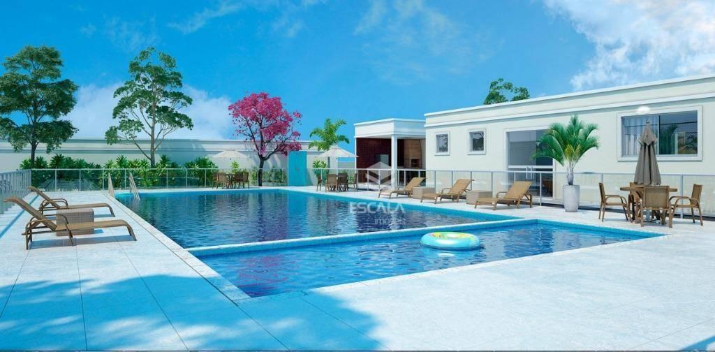 Apartamento com 2 quartos, 78m², área de lazer, 1 vaga, terraço, financia - Eusébio/CE
