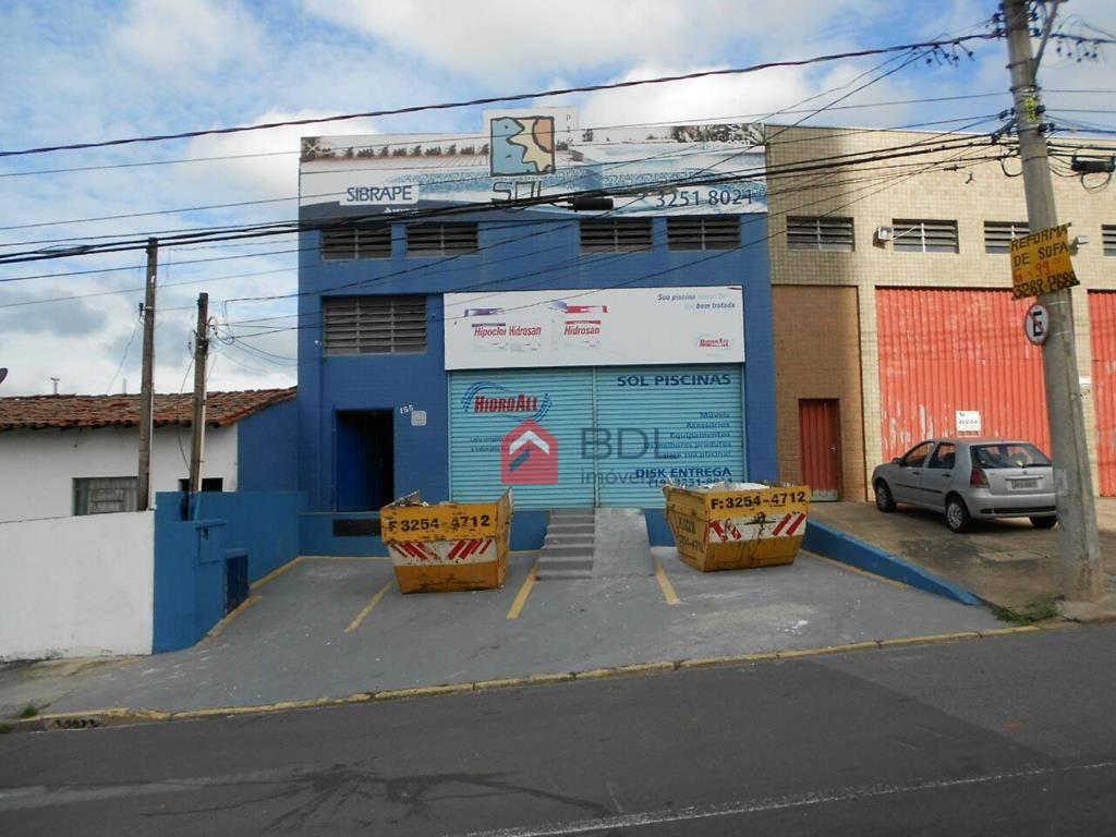 Barracão comercial para locação, Jardim Flamboyant, Campinas