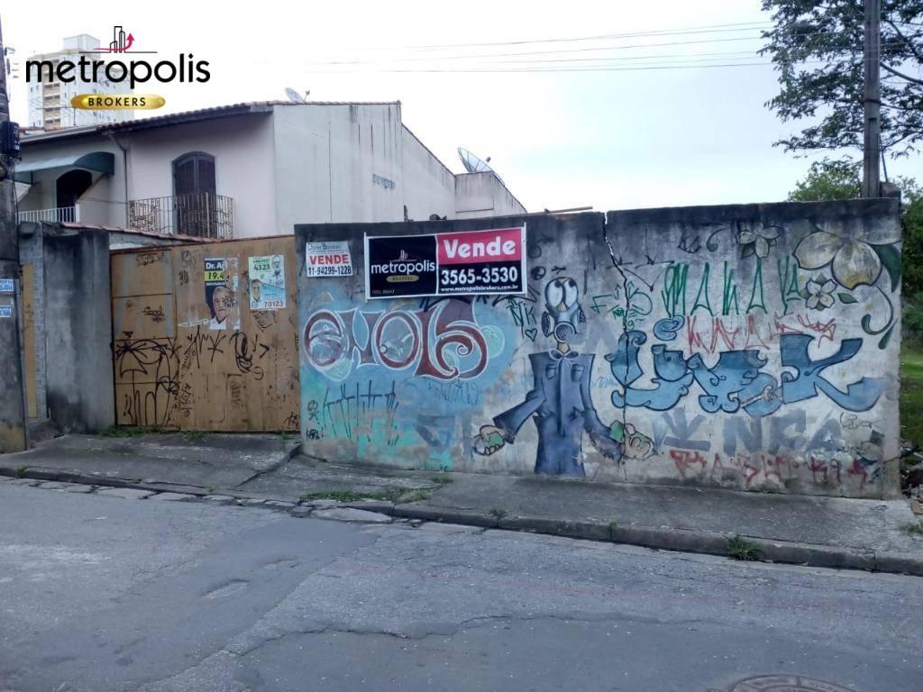 Terreno à venda, 400 m² por R$ 500.000 - Vila Mazzei - Santo André/SP