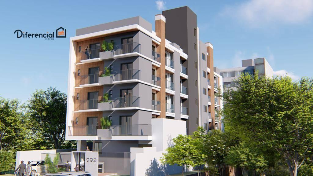 Apartamento com 1 dormitório à venda, 37 m² por R$ 206.364,00 - Água Verde - Curitiba/PR