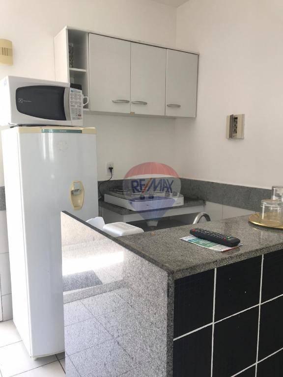 Flat com 1 dormitório para alugar, 40 m² por R$ 1.600/mês - Boa Viagem - Recife/PE