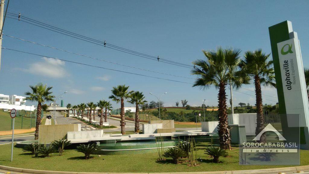 Terreno à venda, 426 m² por R$ 390.000 - Alphaville Nova Esplanada I - Votorantim/SP, próximo ao Shopping Iguatemi.