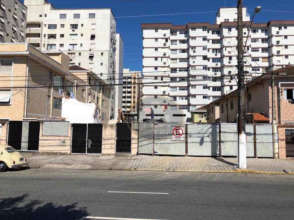 Terreno para alugar, 880 m² por R$ 20.000,00/mês - Macuco - Santos/SP