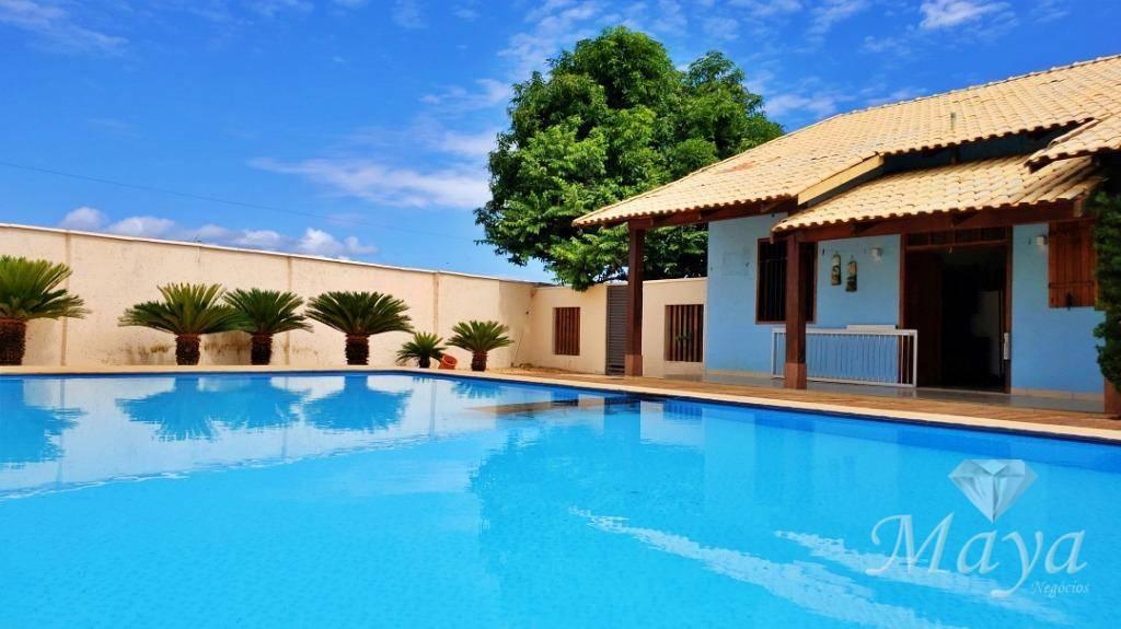 Chácara c/ casa 3 quartos e lazer, 322 m² na TO-010, Sentido Lajeado
