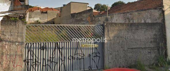 Terreno para alugar, 400 m² por R$ 2.000,00/mês - Bangu - Santo André/SP