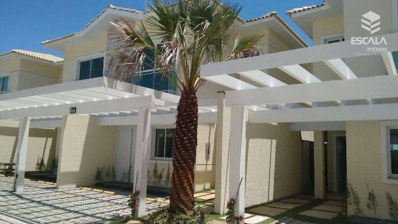 Casa duplex com 3 quartos à venda, 117 m², nova, cond. Fechado, área de lazer, financia - Antônio Diogo - Fortaleza/CE