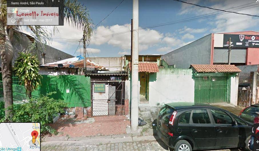 Terreno à venda, 318 m² - Utinga - Santo André/SP