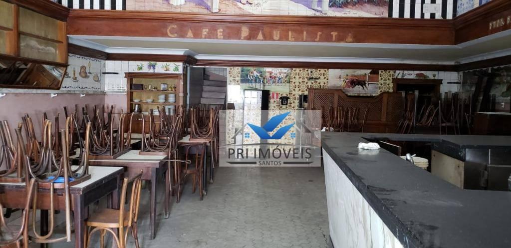 Loja à venda, 310 m² por R$ 1.400.000,00 - Centro - Santos/SP
