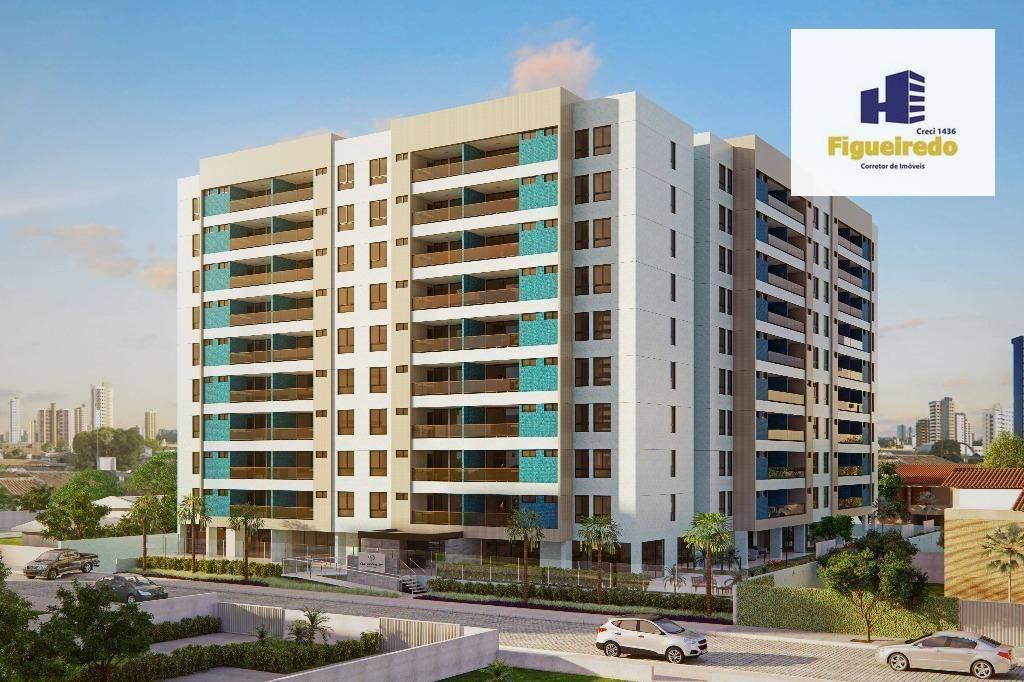 Apartamento com 3 dormitórios à venda, 98 m² por R$ 471.688,25 - Bessa - João Pessoa/PB