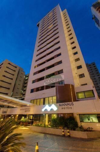 Flat com 1 dormitório para alugar, 45m² por R$ 3.000,00/mês - Adrianópolis - Manaus/AM - Proximo ao Manauara Shopping