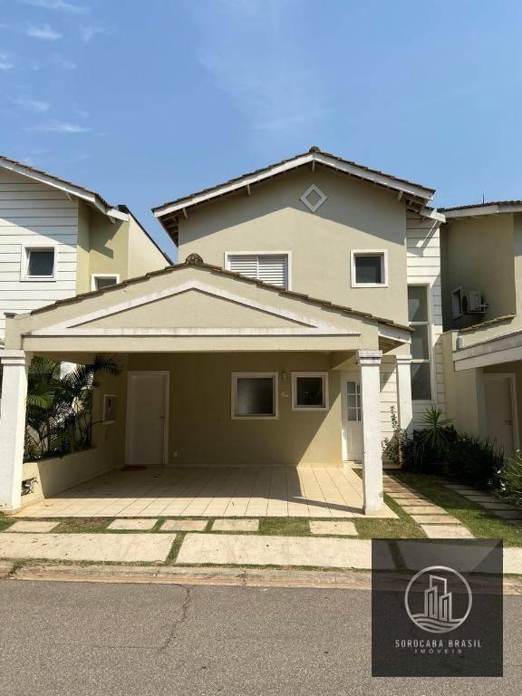 Sobrado com 3 dormitórios para alugar, 161 m² por R$ 3.000,00/mês - Condomínio Villa Campolim - Sorocaba/SP