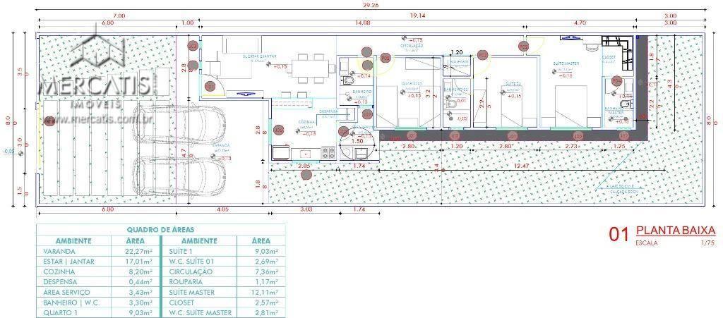 planta baixa | modelo ppdd 01 | 118,47 m²