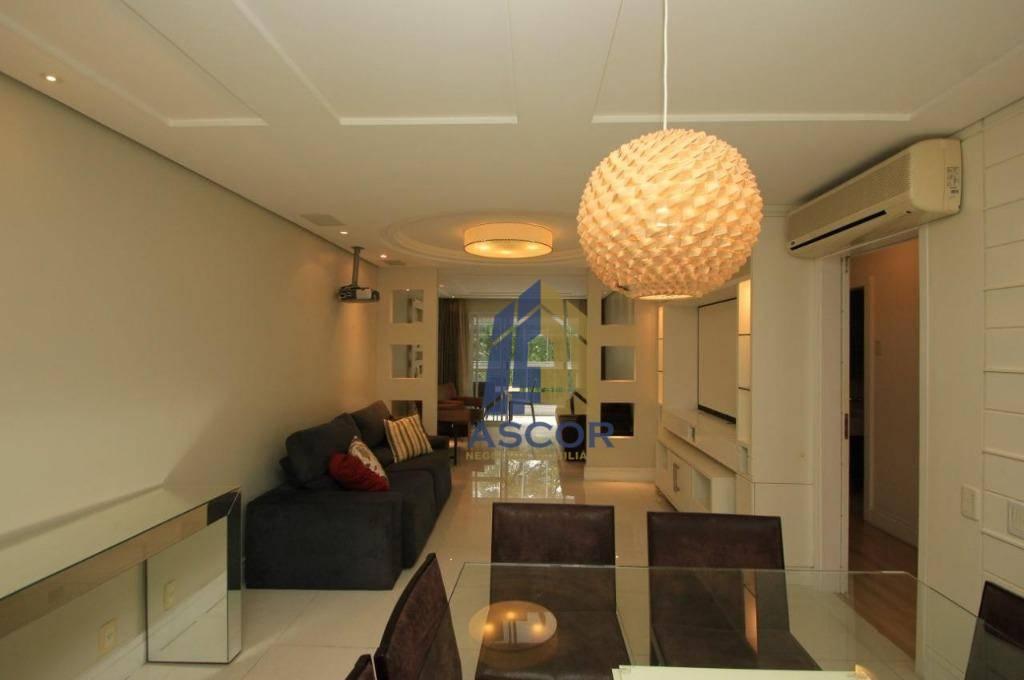 Apartamento na Beiramar Norte com 3 dormitórios para alugar, 135 m² por R$ 3.900/mês - Centro - Florianópolis/SC