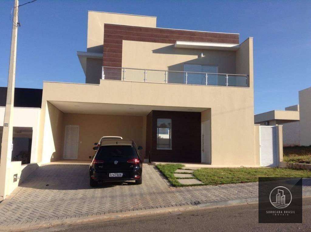 Sobrado com 3 dormitórios à venda, 280 m² por R$ 970.000,00 - Condomínio Belvedere II - Votorantim/SP