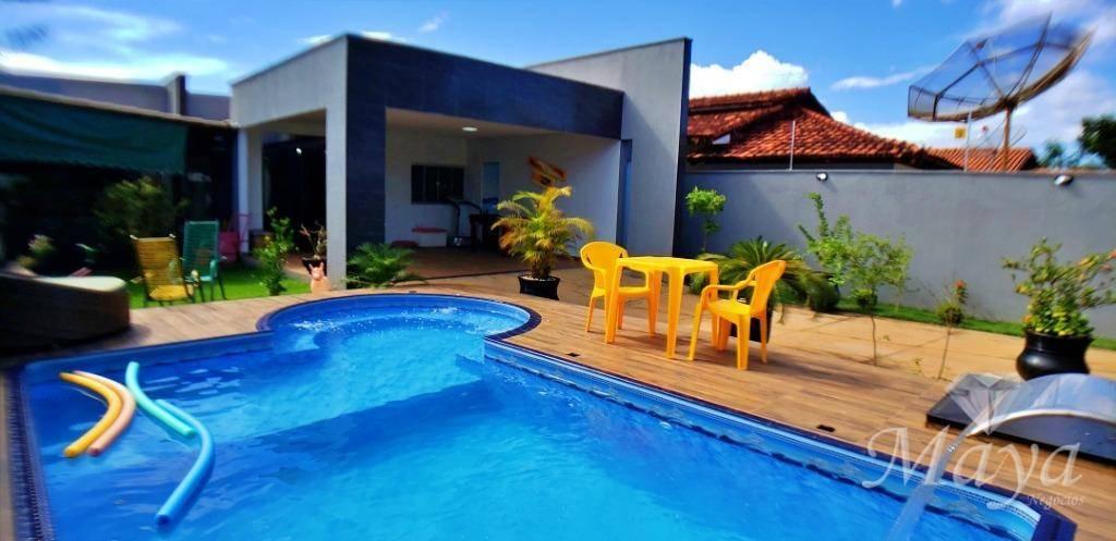 Casa 4 Quartos, 206 m² c/ lazer na 604 Sul