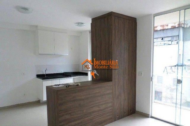 Studio com 1 dormitório à venda, 36 m² por R$ 265.000,00 - Vila Augusta - Guarulhos/SP