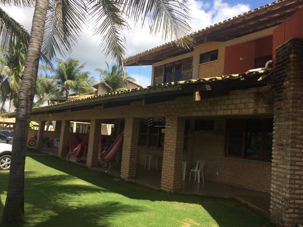 Casa duplex com 5 quartos à venda, 610 m², beira mar, piscina - Cumbuco - Caucaia/CE