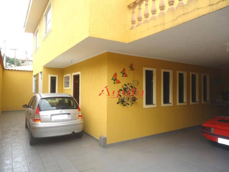 Sobrado com 3 dormitórios à venda, 188 m² por R$ 680.000 - Jardim Santo Antônio - Santo André/SP
