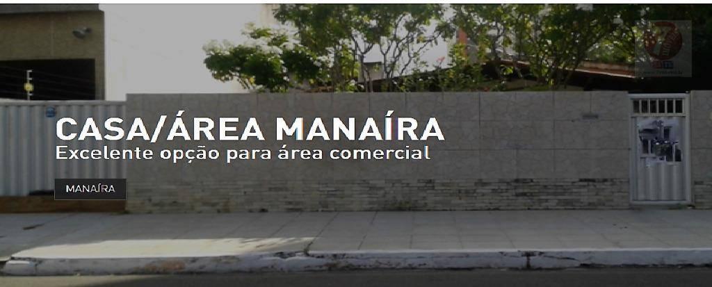 Área comercial/residencial à venda, Manaíra, João Pessoa - A