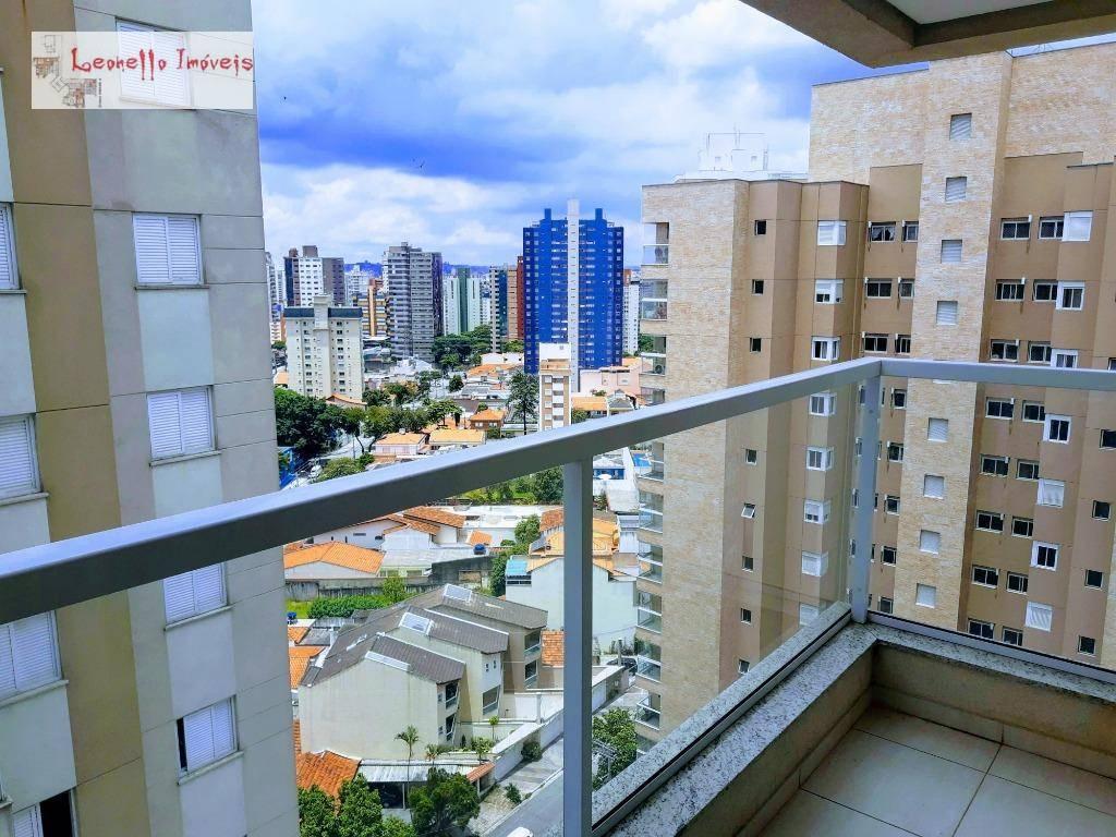 Locação mobiliado + serviços, 2 dorm, 1 S, 2 vagas. Consulte. 57 m²  - Bairro Jardim - Santo André/SP