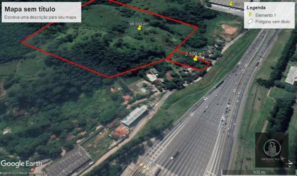 Área à venda, 2500 m² por R$ 2.500.000,00 - Castelo Branco - Sorocaba/SP