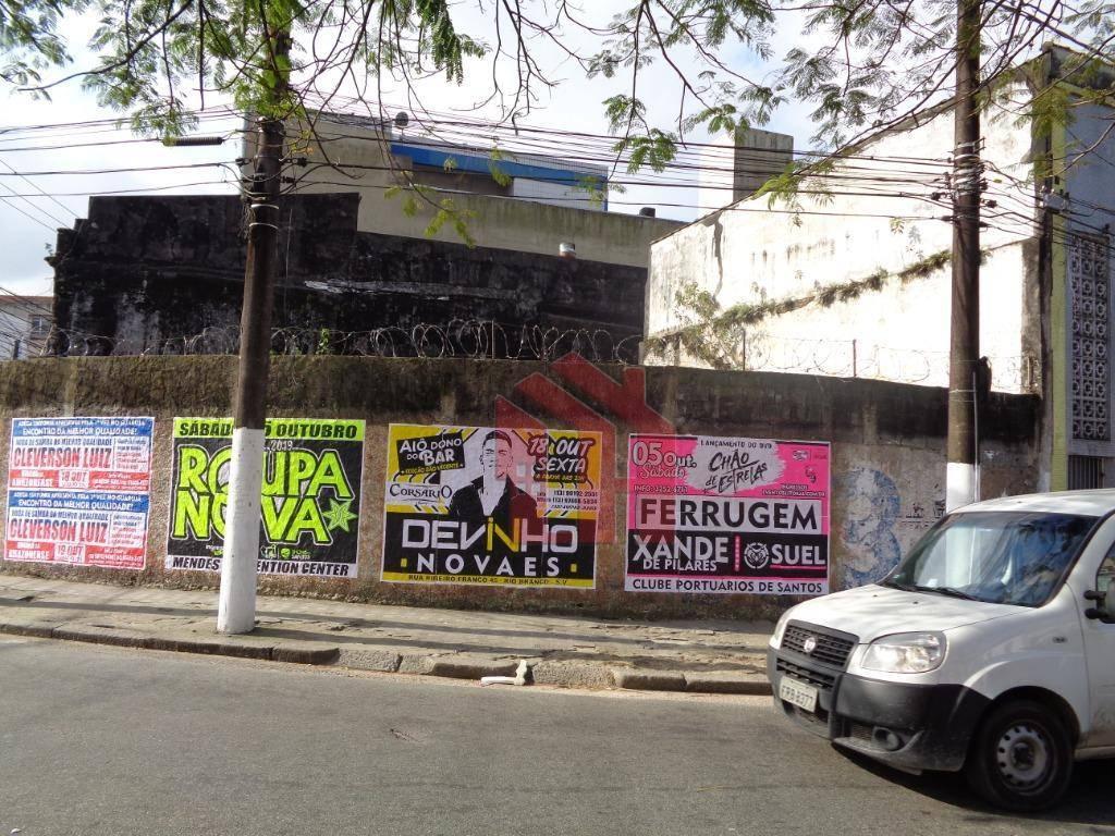 Terreno à venda, 420 m² por R$ 800.000,00 - Vila Matias - Santos/SP