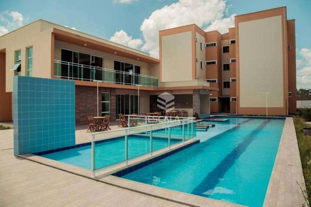 Apartamento com 2 quartos à venda, 51 m², área de lazer, 1 vaga - Curicaca - Caucaia/CE