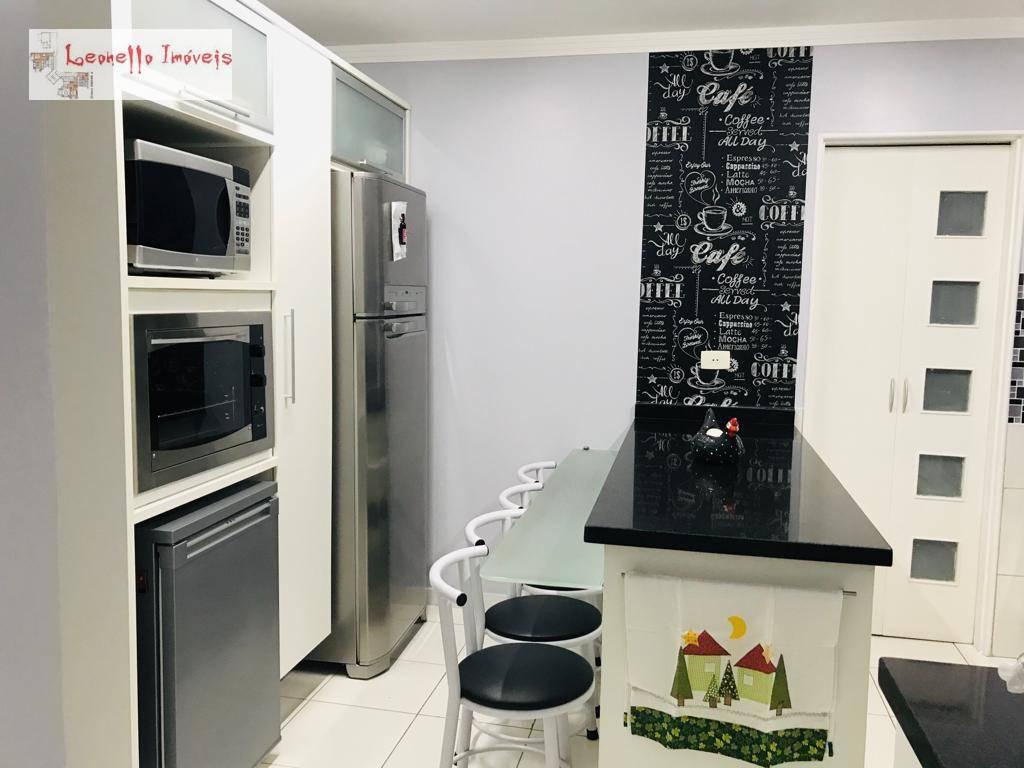 Apartamento com 3 dormitórios à venda, 139 m² - Jardim - Santo André/SP