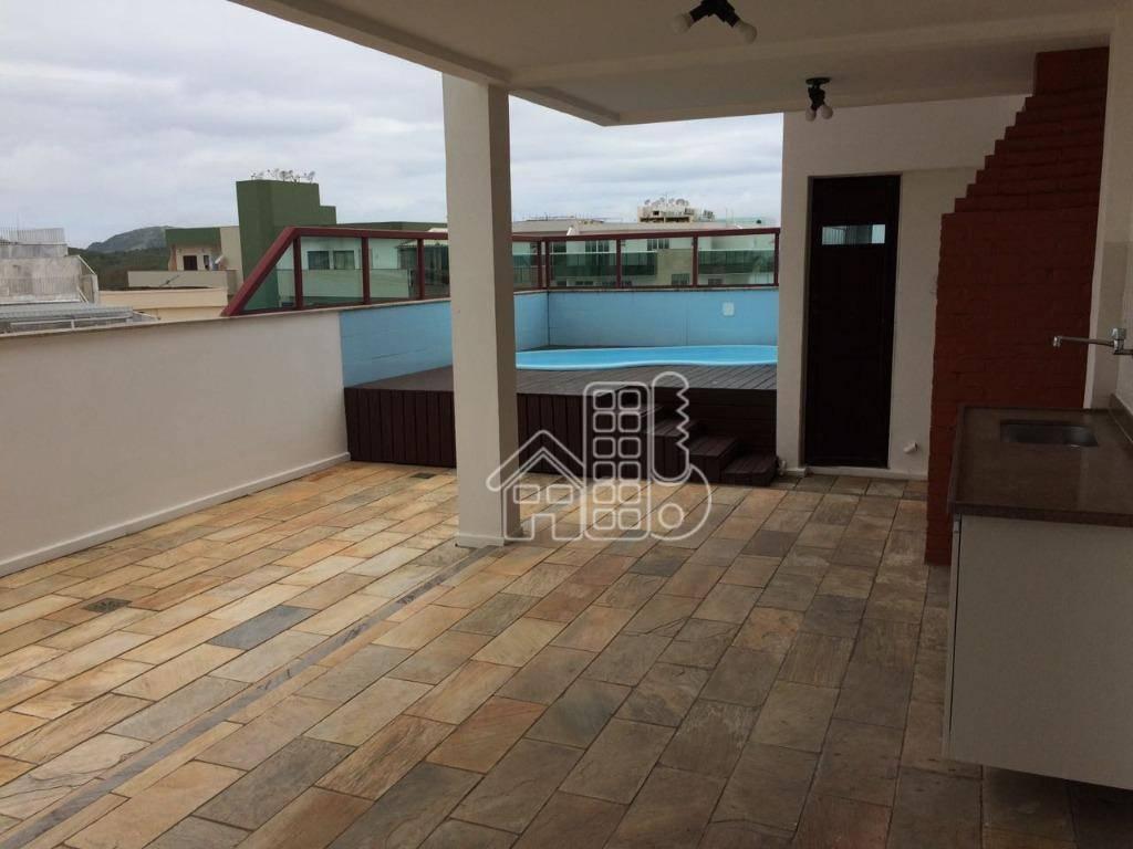 Cobertura com 4 dormitórios à venda, 288 m² por R$ 1.690.000,00 - Passagem - Cabo Frio/RJ