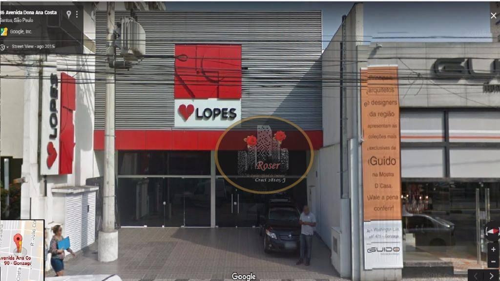 Loja para alugar, 500 m² por R$ 25.000,00/mês - Gonzaga - Santos/SP