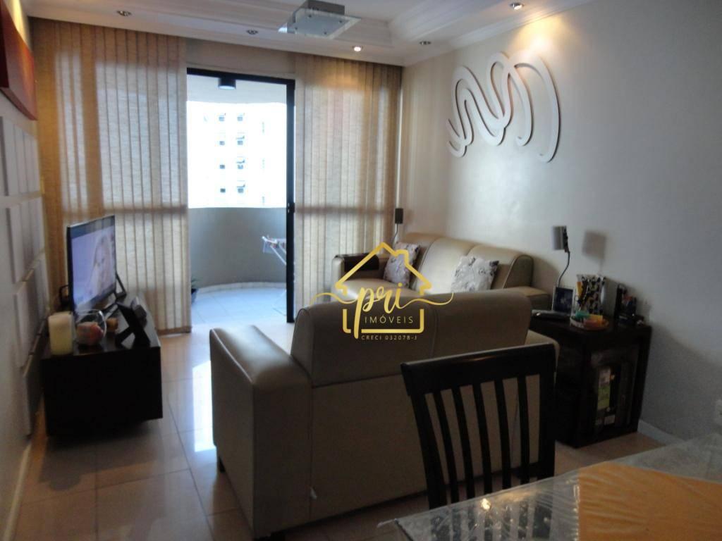 Apartamento com 1 dormitório à venda, 60 m² por R$ 220.000,00 - Centro - São Vicente/SP