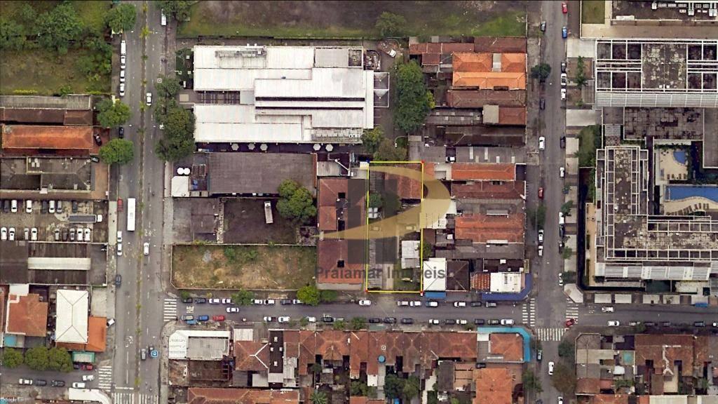 Terreno à venda, 830 m² por R$ 2.300.000,00 - Vila Matias - Santos/SP