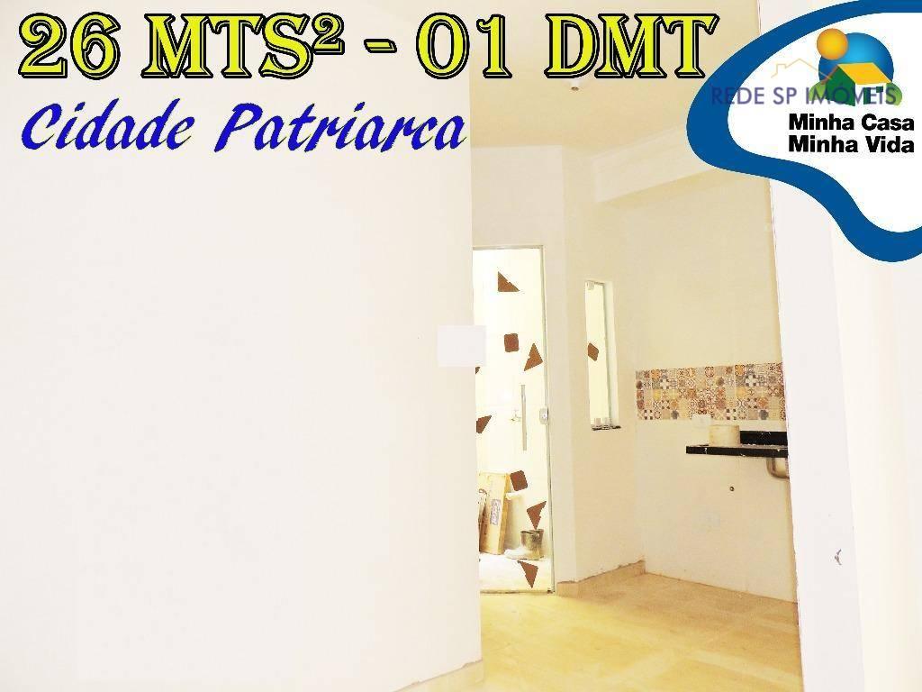 Apartamentos de 01 dormitório à venda na Cidade Patriarca
