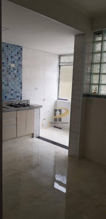 Apartamento com 3 dormitórios à venda, 110 m² por R$ 480.000,00 - Pompéia - Santos/SP