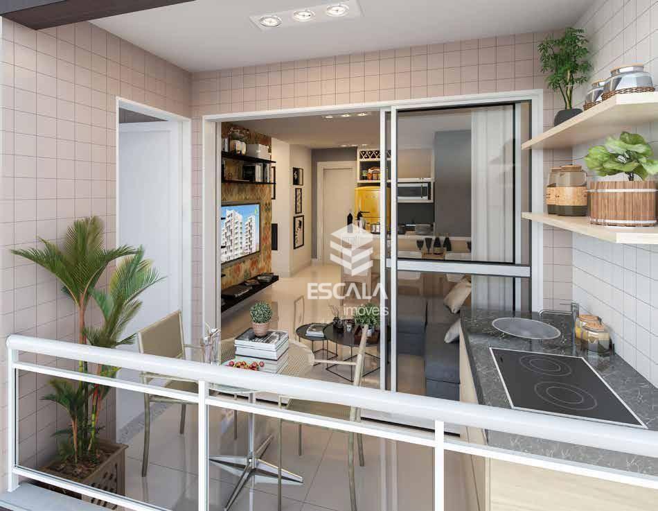 Apartamento com 2 quartos à venda, 51 m², área de lazer, 1 vaga, financia - cidade dos Funcionários - Fortaleza/CE