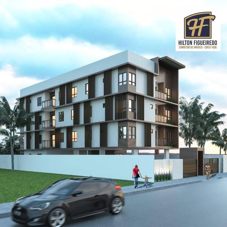 Apartamento com 2 dormitórios à venda, 60 m² por R$ 190.000,00 - Intermares - Cabedelo/PB