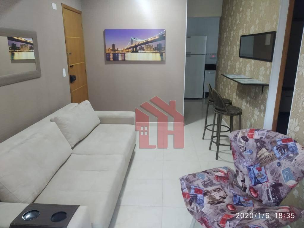 Apartamento com 1 dormitório à venda, 50 m² por R$ 260.000,00 - Vila Voturua - São Vicente/SP