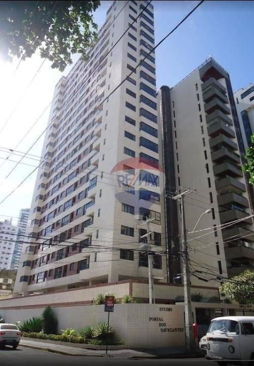 Flat com 1 dormitório para alugar, 34 m² por R$ 2.000,00/mês - Boa Viagem - Recife/PE