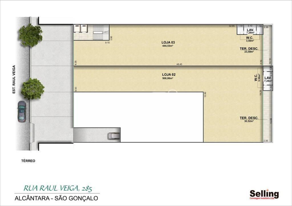 Loja para alugar, 508 m² por R$ 30.000/mês - Raul Veiga - São Gonçalo/RJ