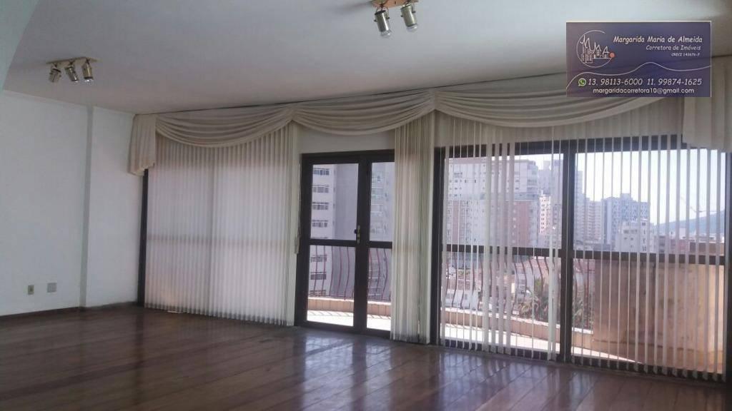 Oprtunidade Venda apartamento alto padrão, 456 m2, quadra da praia, Ponta da Praia, Santos(SP).