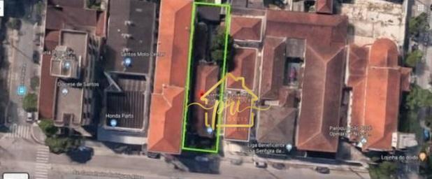 Terreno à venda, 500 m² por R$ 1.380.000,00 - Macuco - Santos/SP