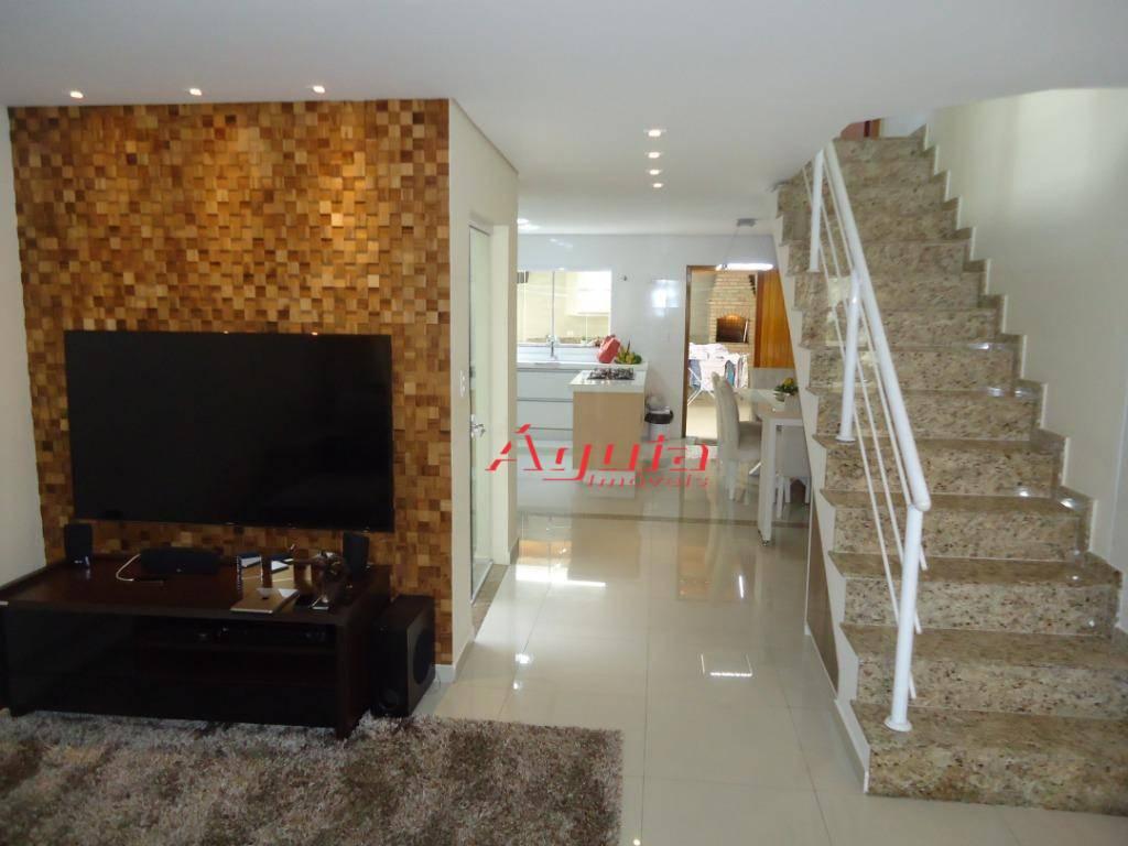 Sobrado com 3 dormitórios à venda, 165 m² por R$ 680.000 - Parque Jaçatuba - Santo André/SP